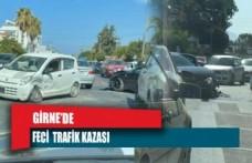 Girne'de feci trafik kazası!