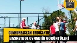 Cumhurbaşkanı Erdoğan basketbol oynadığı görüntüleri paylaştı