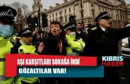 İngiltere'de aşı karşıtı protestoya müdahale: Gözaltılar var