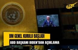 BM Genel Kurulu başladı: ABD Başkanı Biden'dan...