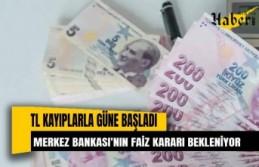 Türk Lirası kayıplarla Merkez'in faiz kararını bekliyor