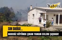 SON DAKİKA! Akdeniz köyünde çıkan yangın evlere...