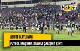 Futbol maçında silahlı çatışma çıktı