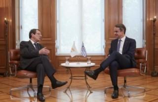 Anastasiadis ve Miçotakis Türkiye'yi konuştu!