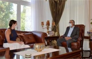 Cumhurbaşkanı Akıncı Rüya Taner'i kabul...