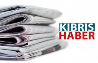 KKTC Gazete manşetleri / 26 Ağustos Çarşamba
