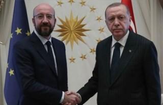 TC CUMHURBAŞKANI ERDOĞAN, AB KONSEYİ BAŞKANI MİCHEL'LE...