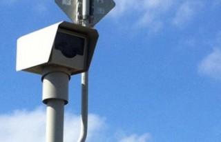 Kaplıca'daki hız tespit kamerası devreye girdi