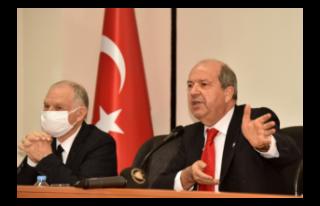 """TATAR: """"KIBRIS MESELESİNİN ÖZÜ BİR EGEMENLİK..."""