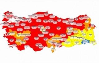 Türkiye'nin güncel risk haritası yayınlandı