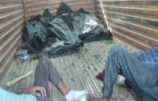 40 kişiye ait paramparça olmuş cansız bedenler...