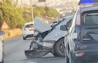 Lefkoşa - Girne Anayolu'nda kaza