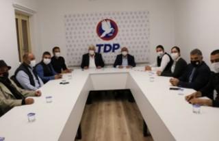 TDP genel başkanı Özyiğit,sendikal platform heyetiyle...