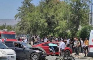 Yusuf Çağraş'ın yaralandığı trafik kazasında...