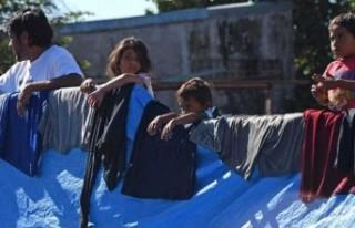 ABD'nin sığınmacı kamplarındaki çocuklar...