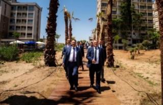 Başbakan Ersan Saner Kapalı Maraş'ta incelemelerde...