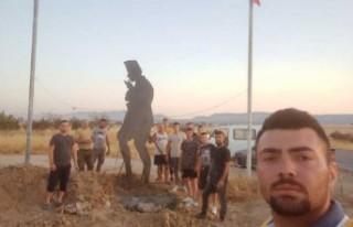 Pınarlı Köyü'ne Atatürk Silueti