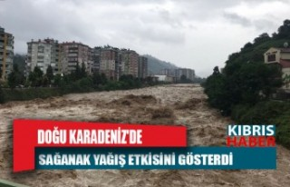 Doğu Karadeniz'de sağanak yağış etkisini...