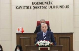 Erdoğan, Meclis'te açıklama yapıyor