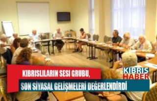 Kıbrıslıların Sesi Grubu, son siyasal gelişmeleri...