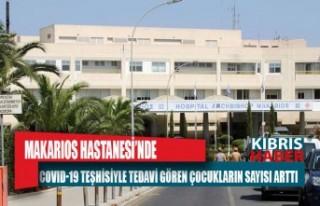 Makarios Hastanesi'nde covid-19 teşhisiyle tedavi...