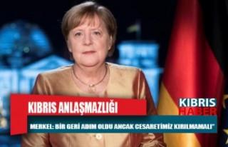 """Merkel: """"Kıbrıs sorununda bir geri adım oldu..."""