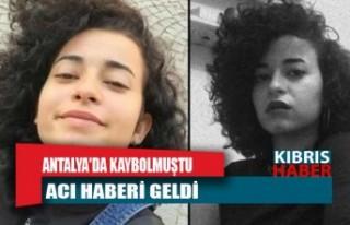 Antalya'da kaybolan üniversite öğrencisi Azra'dan...