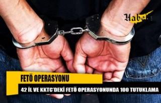 42 il ve KKTC'deki FETÖ operasyonunda 100 tutuklama