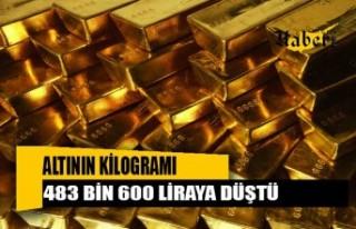 Altının kilogramı 483 bin 600 liraya düştü