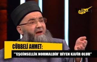'Cübbeli Ahmet': Eşcinsellik normal görülmeye...