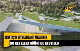 Denktaş'ın bitmeyen anıt mezarının bu kez elektriğini...