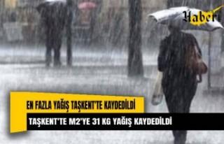 En fazla yağış Taşkent'te kaydedildi. Metre...