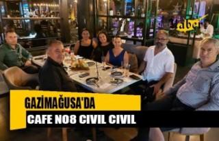 Gazimağusa'da Cafe No8 Cıvıl Cıvıl