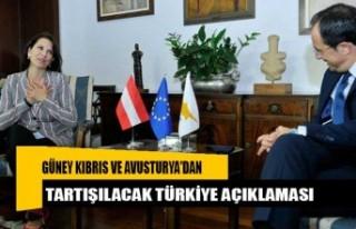 Güney Kıbrıs ve Avusturya'dan tartışılacak...