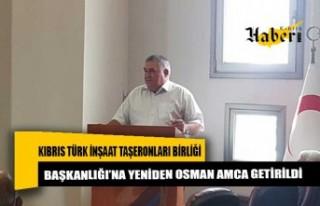 Kıbrıs Türk İnşaat Taşeronları Birliği Başkanlığı'na...