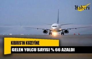 Kıbrıs'ın kuzeyine gelen yolcu sayısı % 66...