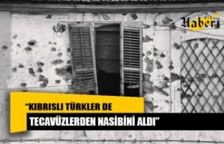 """""""Kıbrıslı Türkler de tecavüzlerden nasibini..."""