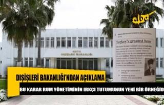 KKTC Dışişleri Bakanlığı açıklama yaptı