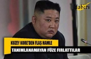 Kuzey Kore'den flaş hamle! Tanımlanamayan füze...
