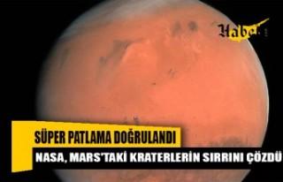 NASA, Mars'taki kraterlerin sırrını çözdü