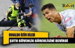 Ronaldo özür diledi! Şutu güvenlik görevlisini...