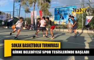 Sokak basketbolu turnuvası başladı