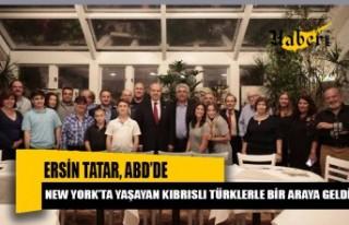 Tatar, ABD'de yaşayan Kıbrıslı Türklerle bir...