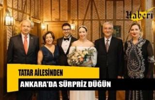 Tatar ailesinden Ankara'da sürpriz düğün
