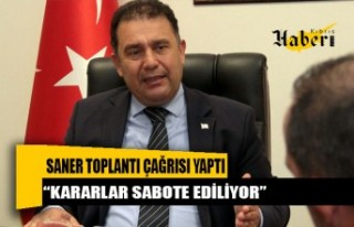 UBP Genel Başkanı Başbakan Saner, bugün için...