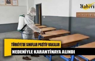 Yüzlerce sınıf pozitif vakalar nedeniyle karantinaya...