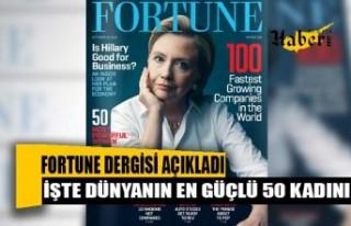 Fortune, dünyanın en güçlü 50 kadınını açıkladı