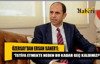 "Kudret Özersay'dan Ersan Saner'e: ""İstifa..."