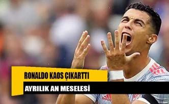 Manchester United'da Ronaldo kaos çıkarttı! Ayrılık an meselesi