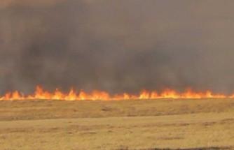 Sandallar köyünde yangın!